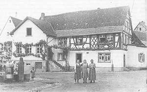 Ortsmitte Rettigheim um 1930